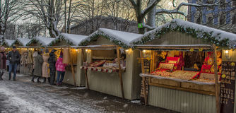 Christmas market in Riga Royalty Free Stock Photography