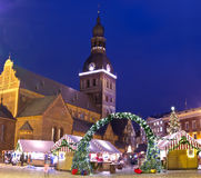 Christmas market in Riga Royalty Free Stock Image