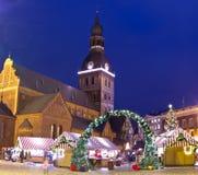 Christmas market in Riga Royalty Free Stock Image