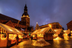 Christmas market in Riga Royalty Free Stock Photo
