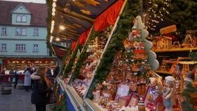 Christmas Market in Rothenburg ob der Tauber, Germany. Reiterlesmark, Christmas Market in Rothenburg ob der Tauber, Franconia, Bavaria, Germany, Europe stock footage
