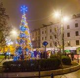 Christmas Market at Rynek Glowny Square in Krakow Royalty Free Stock Photos