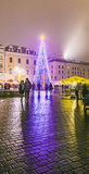 Christmas Market at Rynek Glowny Square in Krakow Royalty Free Stock Images