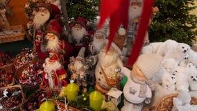Christmas market at Schloss Hellbrunn, Salzburg, Austria. Beautiful decorations at the Christkindlmarkt in Salzburg Hellbrunn, Austria, Europe stock video