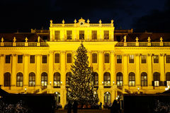 Christmas market Schonbrunn, Vienna Stock Photo