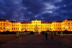 Christmas market Schonbrunn, Vienna Stock Images