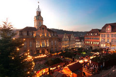 Christmas market in Schwaebisch Hall Germany Royalty Free Stock Images