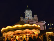 The Christmas Market in Senate Square Royalty Free Stock Photos