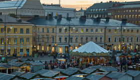 The Christmas Market in Senate Square Stock Images