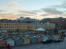 The Christmas Market in Senate Square Royalty Free Stock Images