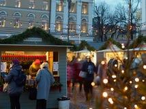 The Christmas Market in Senate Square Stock Photo