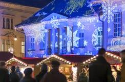 Christmas market in Sibiu, Romania Royalty Free Stock Photography