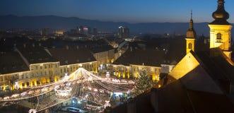 Christmas market in Sibiu, Romania Royalty Free Stock Image