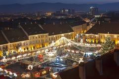 Christmas market in Sibiu, Romania Stock Photo
