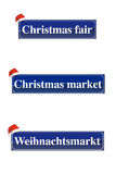 Christmas market signs Stock Photo