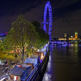Christmas Market on the South Bank in London Stock Images