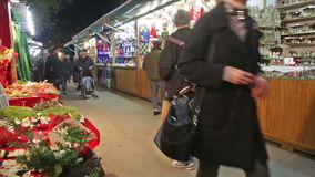 Christmas market stock video footage