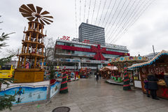 Christmas market on the square near the Kaiser Wilhelm Memorial Church Stock Image