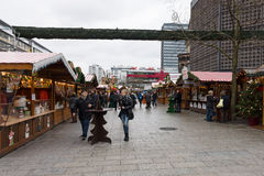 Christmas market on the square near the Kaiser Wilhelm Memorial Church Royalty Free Stock Photo