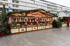 Christmas market on the square near the Kaiser Wilhelm Memorial Church Royalty Free Stock Image