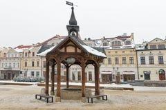 Christmas Market square in Rzeszow, Poland. Royalty Free Stock Photo