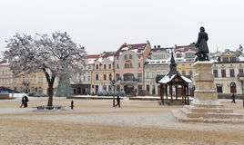 Christmas Market square in Rzeszow, Poland. Royalty Free Stock Photography