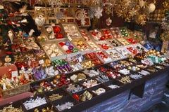 Christmas market stall Stock Image