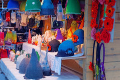 Christmas market stall at Dome square in Old Riga Royalty Free Stock Images