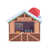 Christmas Market Stall Royalty Free Stock Photos