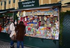 Christmas Market stall, Vienna Stock Photo