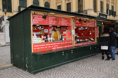 Christmas Market stall, Vienna Stock Photography