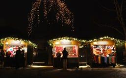 Christmas Market Stalls in Ljubljana Royalty Free Stock Image