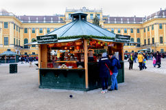 Christmas Market stalls, Vienna Royalty Free Stock Images