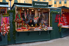 Christmas Market stalls, Vienna Royalty Free Stock Image