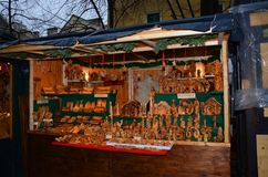 Christmas Market stalls, Vienna Stock Images