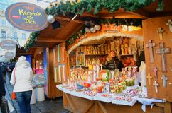 Christmas Market stalls, Vienna Stock Images