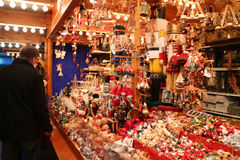 Christmas market stand Royalty Free Stock Images