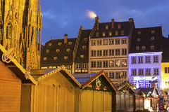 Christmas market in Strasbourg in France Stock Photo