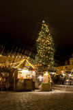 Christmas market in Tallilinn Old Town Royalty Free Stock Image