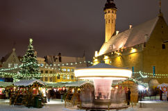 Christmas market in Tallinn Royalty Free Stock Image
