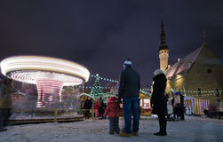The christmas market in Tallinn Royalty Free Stock Photo