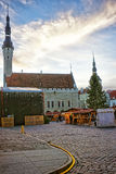 Christmas market in Tallinn Royalty Free Stock Photos
