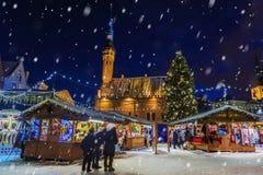 Christmas Market in Tallinn, Estonia Royalty Free Stock Photography