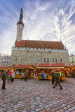 Christmas market in Tallinn Royalty Free Stock Photo