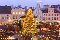 Christmas Market in Tallinn, Estonia royalty free stock photos