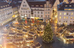 Christmas market in Tallinn, Estonia royalty free stock photo