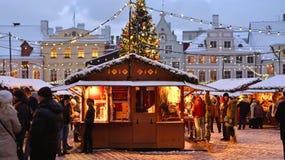 Christmas market in Tallinn. Royalty Free Stock Photography