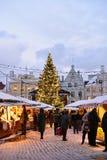 Christmas market in Tallinn. Royalty Free Stock Images