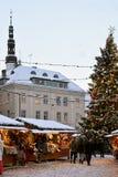 Christmas market in Tallinn. Stock Images