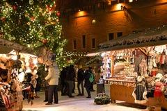 Christmas market in Tallinn Stock Photo